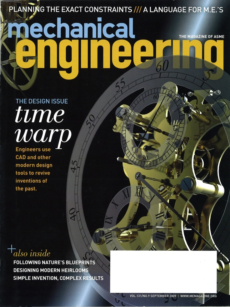 This is a magazine about mechanical engineering which is a