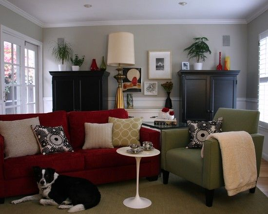 17 Best Images About Gray Walls Red Sofa On Pinterest