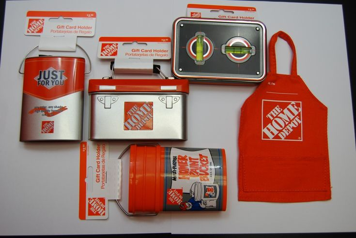 Gift card holders from home depot tool box tin with