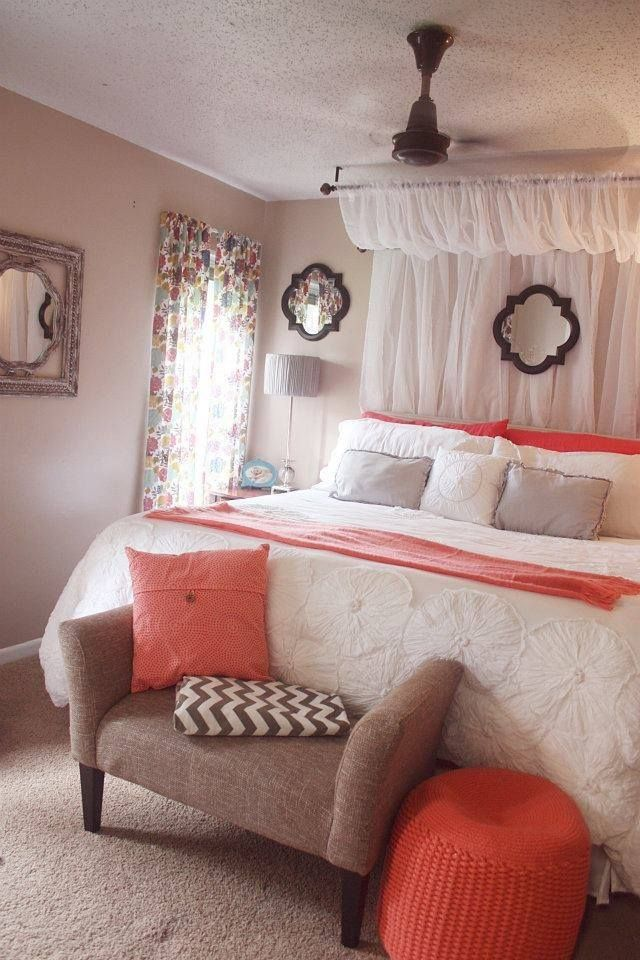 25 Best Ideas About Curtain Headboards On Pinterest Diy Light Headboard Bed Canopy With