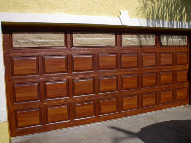 How to paint, Wood grain and Garage on Pinterest