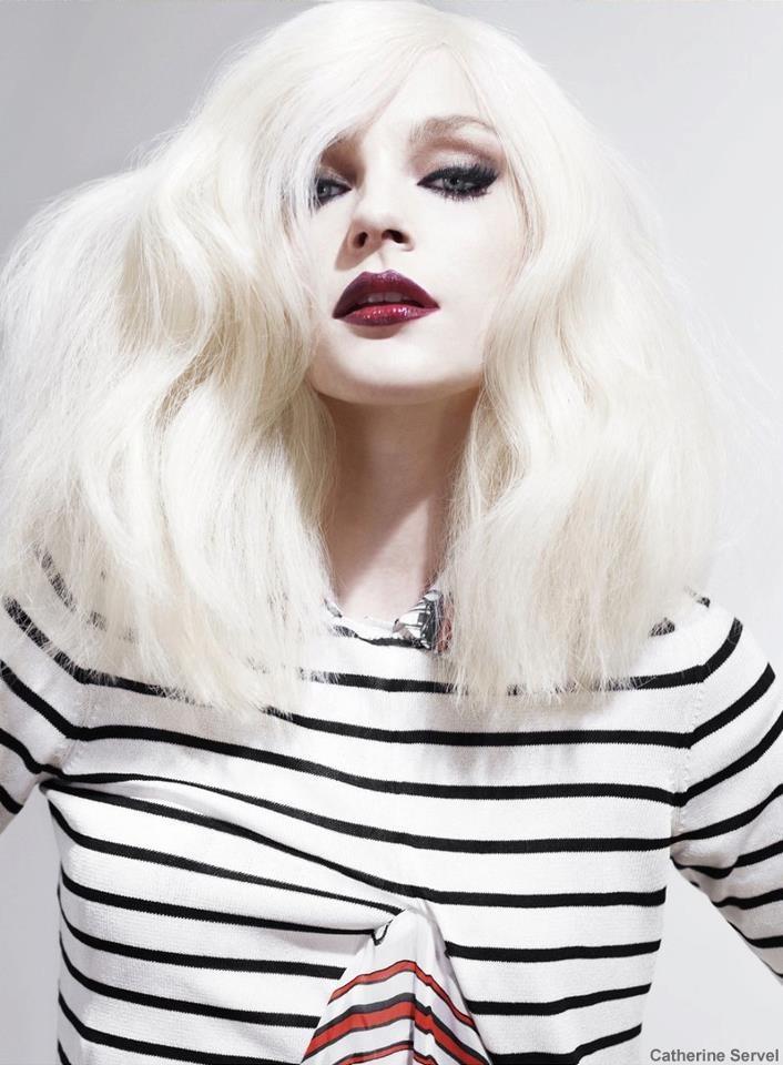 Jessica Stam White Hair Wwwimgkidcom The Image Kid