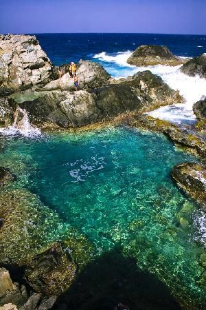 Natural pool- Aruba.  Exactly what it looked like when I was there! Gorgeous to