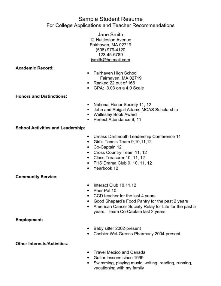 Dance Resume Format For College. Killer Dance Resume Dance