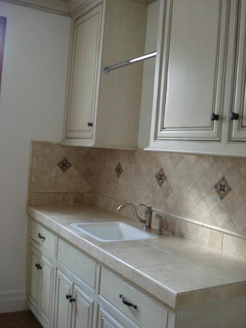 Counter And Backsplash Utility Room Pinterest