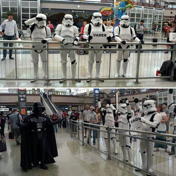 Welcoming Darth Vader Home At The Airport Welcome NampA