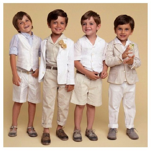 These outfits are too adorable! Could be the most handsome little page boys ever!: