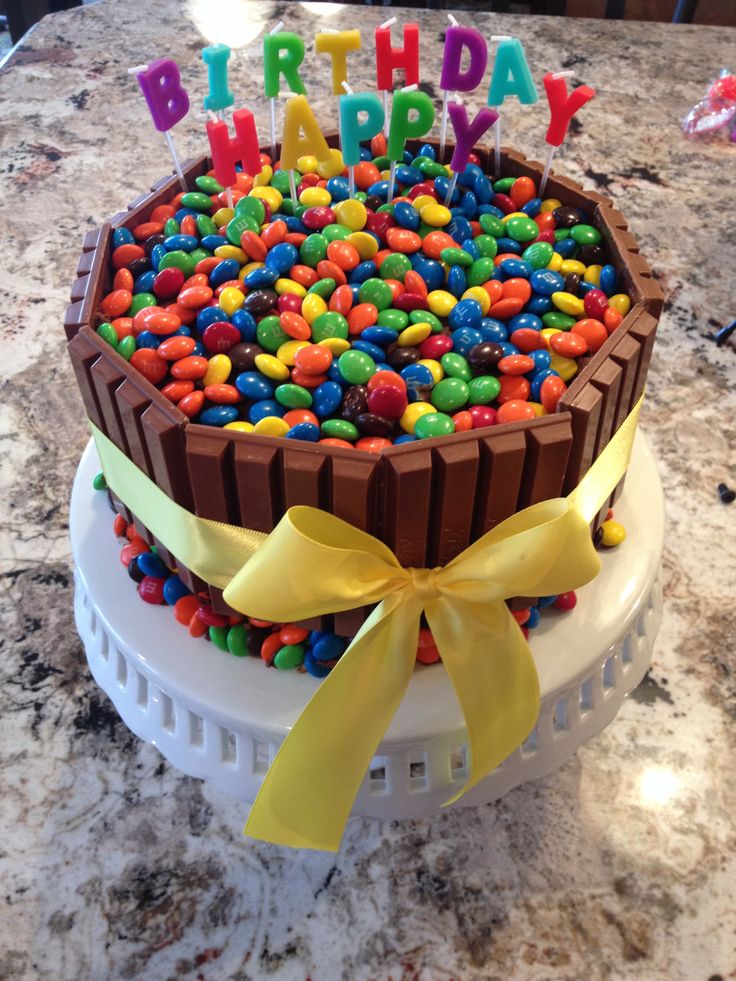 Candy Birthday Cake Recipes I Need To Try Pinterest