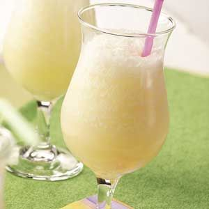 Pina Colada Slush (Non-Alcoholic)..This is great to make ahead, so its readily a