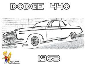 1963 Dodge 440 Car Colouring Pics at YesColoring | Brawny