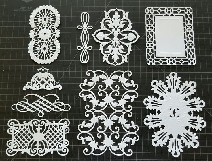 Anna Griffin Cut And Emboss Die Cuts Original Fretworks