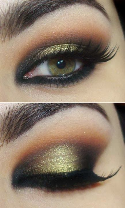 Mix the color of your promdress into your smoky eye for an unforgettable look!