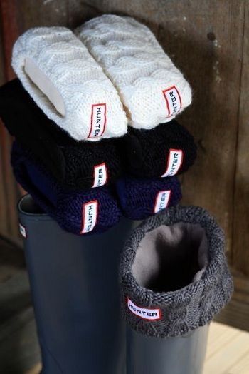 Cable Cuff Welly Sock – Hunter