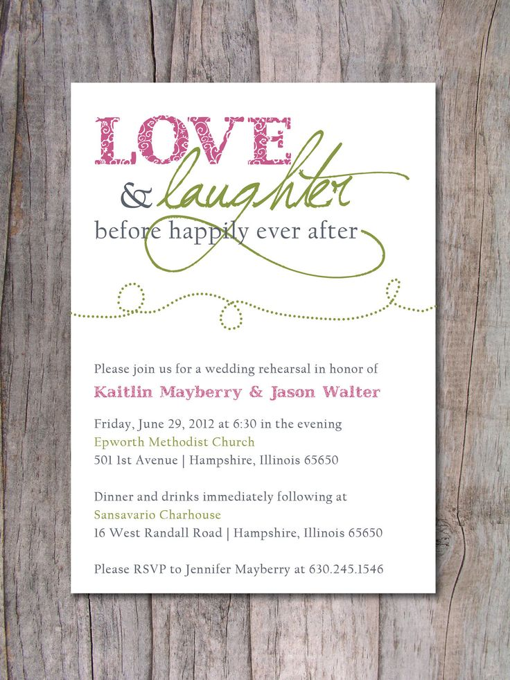 Rehearsal Dinner Invitation Happily Ever After. Mid