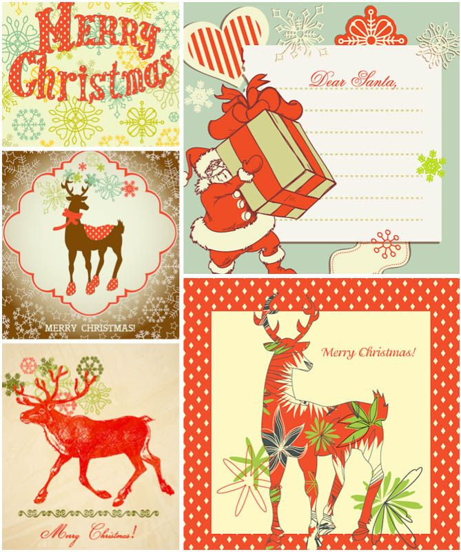 vintage christmas postcards Vintage Christmas card