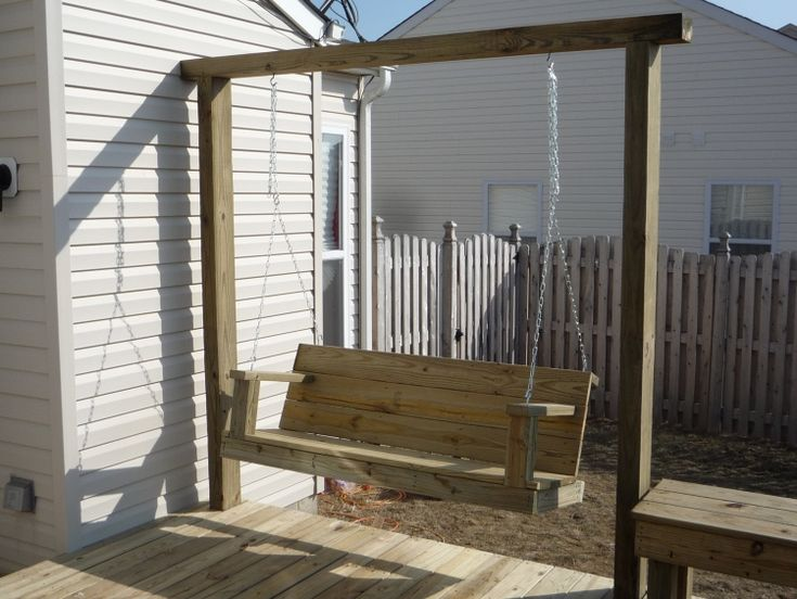 Bench With Built In Arbor 4x6 Frame Swing Bench And