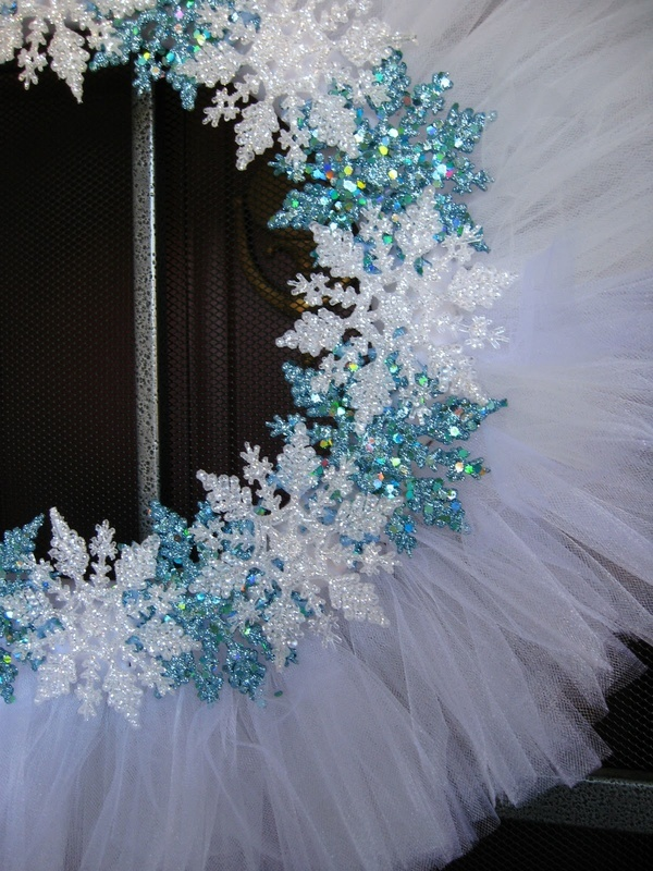 A little inexpensive white tulle and some Dollar Tree