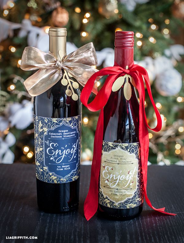 Holiday Wine Bottle Label Printables Bottle Labels And