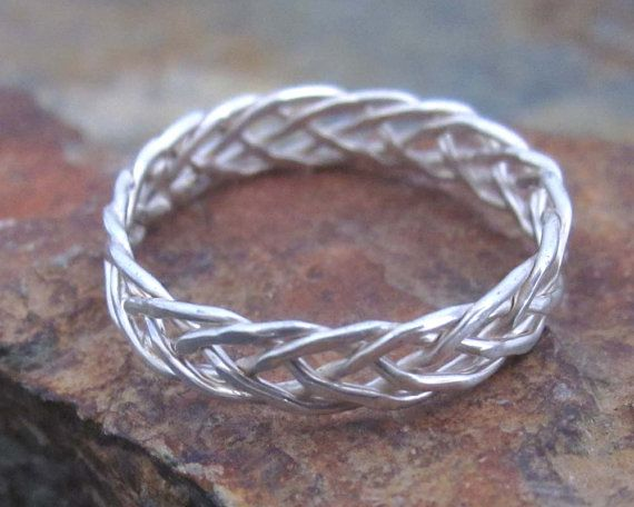 Sterling Silver Braided Ring 5 Strand Braided Ring