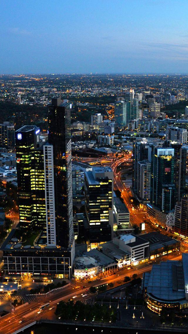 Australia melbourne cityscapes iPhone 5s Wallpaper