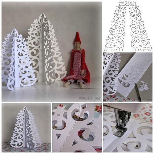 diy paper christmas tree Wonderful DIY 3D Paper Christmas Tree