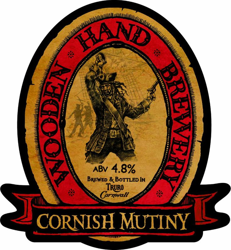CORNISH MUTINY Wooden Hand Brewery Cornwall ღ⊰n