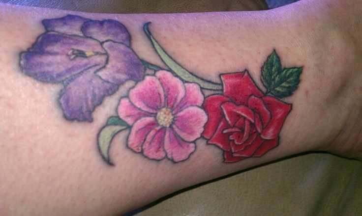 My First Tattoo. August ,October and June Birth flowers