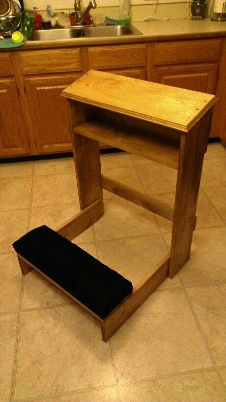 Prayer Bench That Folds Up Stuff I Ve Built Pinterest