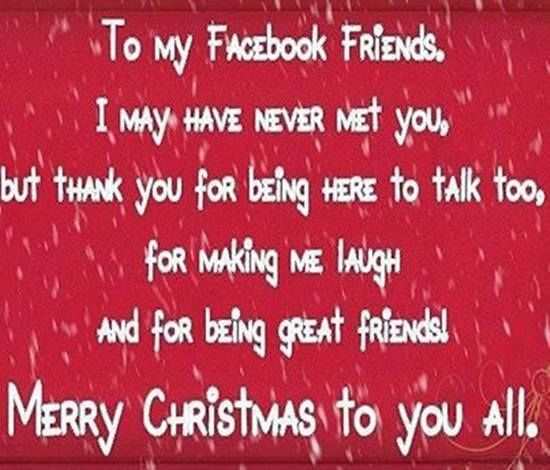 To My Facebook Friends Quotes Quote Facebook Facebook Quotes Christmas Christmas Quotes