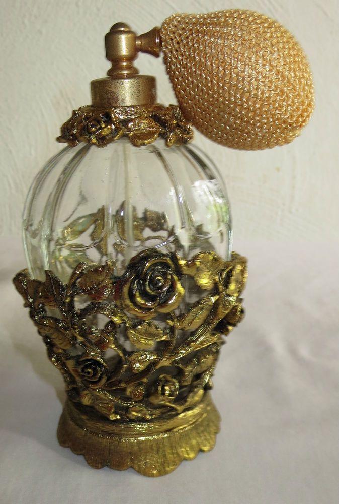 Vintage Matson K825 Gold Ormolu Gilded Filigree Rose