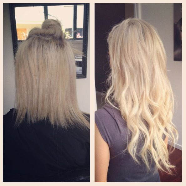 Before And After Tape Weft Hair Extensions At Miss Bliss