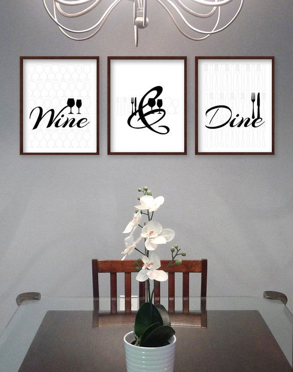 Dining Room Wall Art Kitchen Daphnegraphics