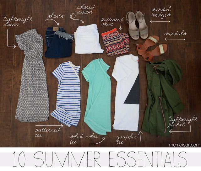 Merricks Art: Wardrobe Essentials – Summer
