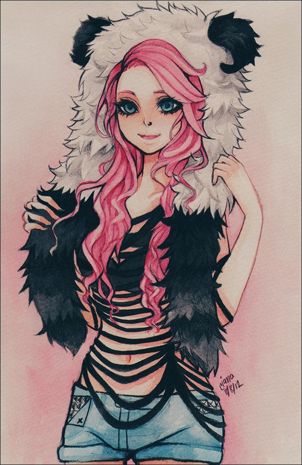 Anime Girl. With pink hair. I'm an Anime Character