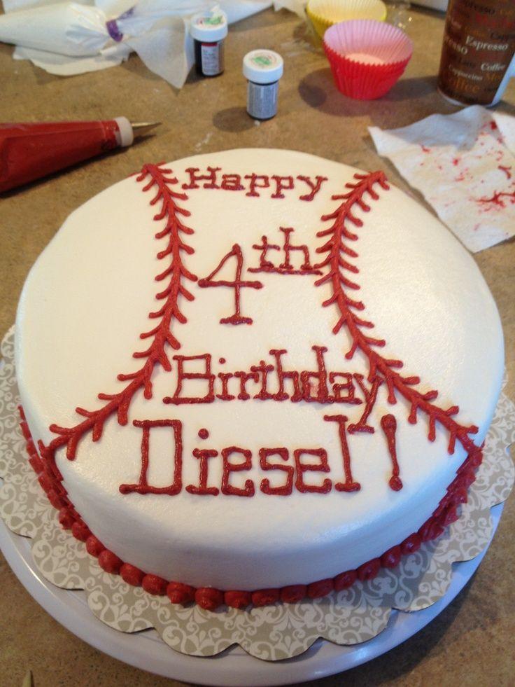 25 Best Ideas About Baseball Birthday Cakes On Pinterest