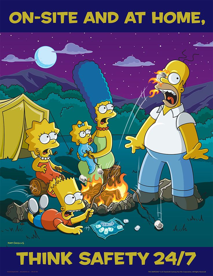 Off the Job Posters Simpsons Off the Job Safety S1133