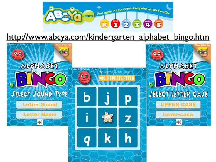 Alphabet Bingo by recognition or sound for both upper and