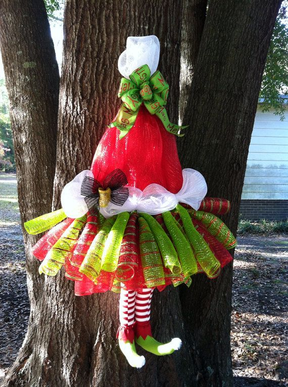 SALE Extra Large Whimsical Mrs Claus Tutu Wreath Santa