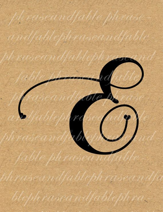 Letter E Hearts 276 Digital Download Alphabet Initial Name