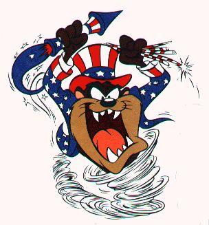 TAZ Patriotic Uncle Sam Err Uncle TAZ TAZ Pinterest