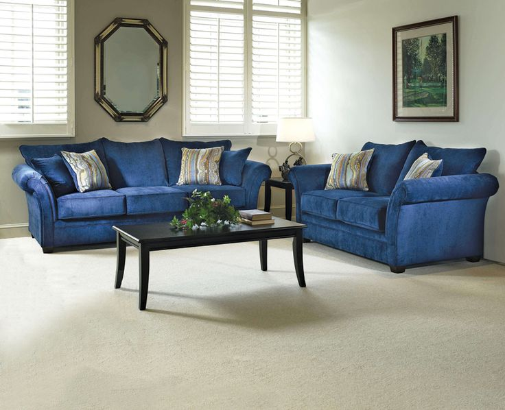 The Elizabeth Royal Blue Living Room Set Fit For A Queen