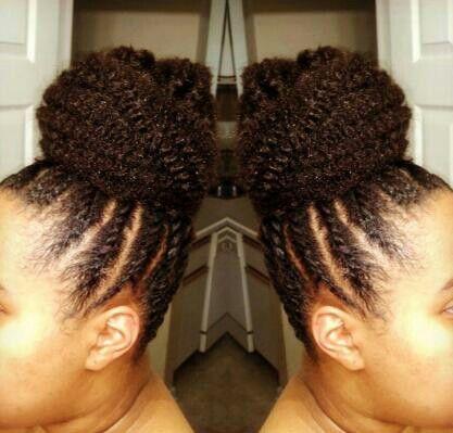 Flat Twist Amp Marley Braiding Hair Bun BraidsUpdos