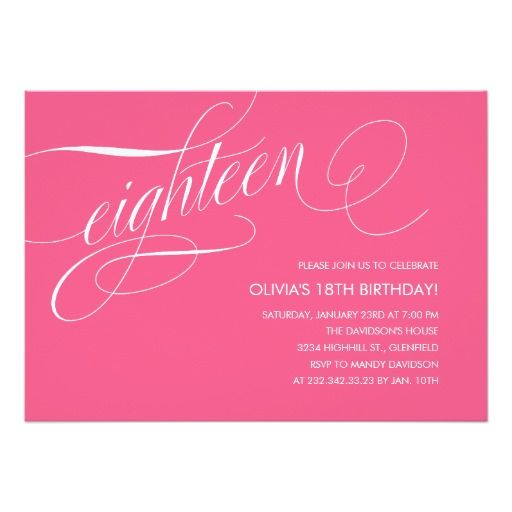 18th birthday cards invitations ideas