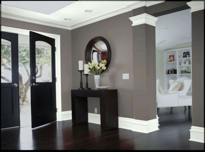 What color furniture goes with dark wood floors. light rug adds ...