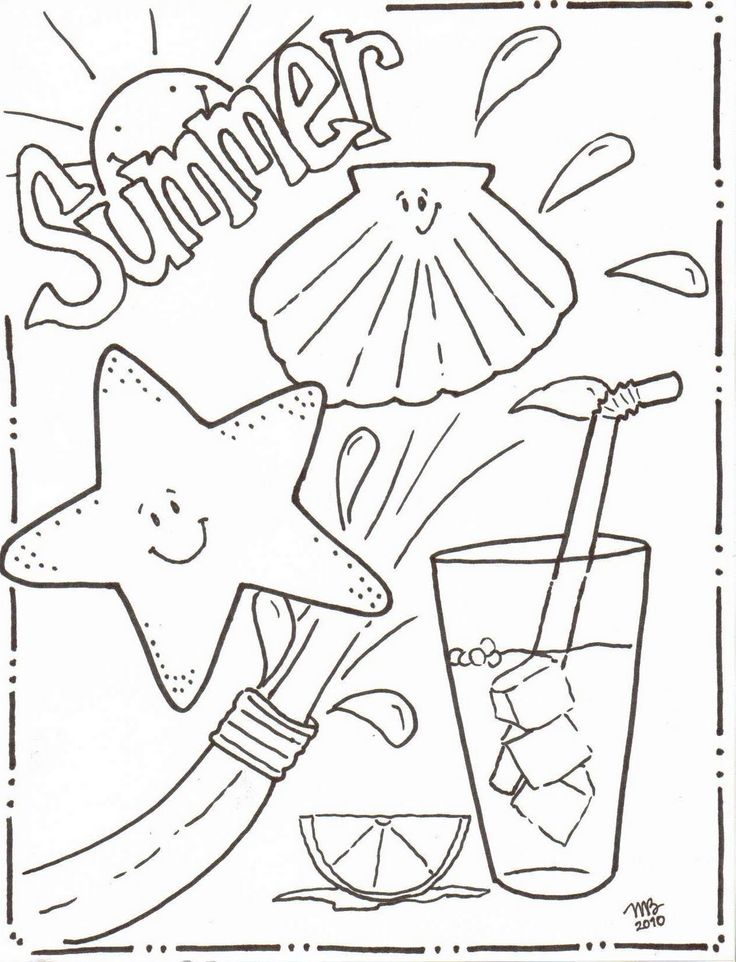 1000 ideas about summer coloring pages on pinterest beach