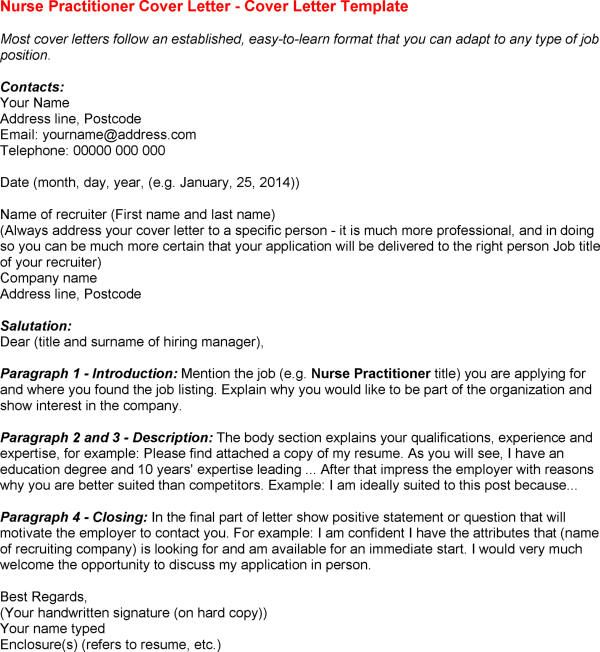 Nurse Practitioner Resume Cover Letter Examples. Nurse