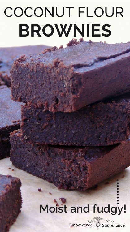 Paleo Coconut Flour Brownies – Dense and fudgy!