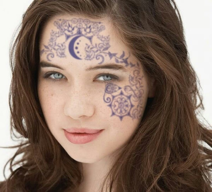 Face tattoos House Of Night Pinterest Faces, Face