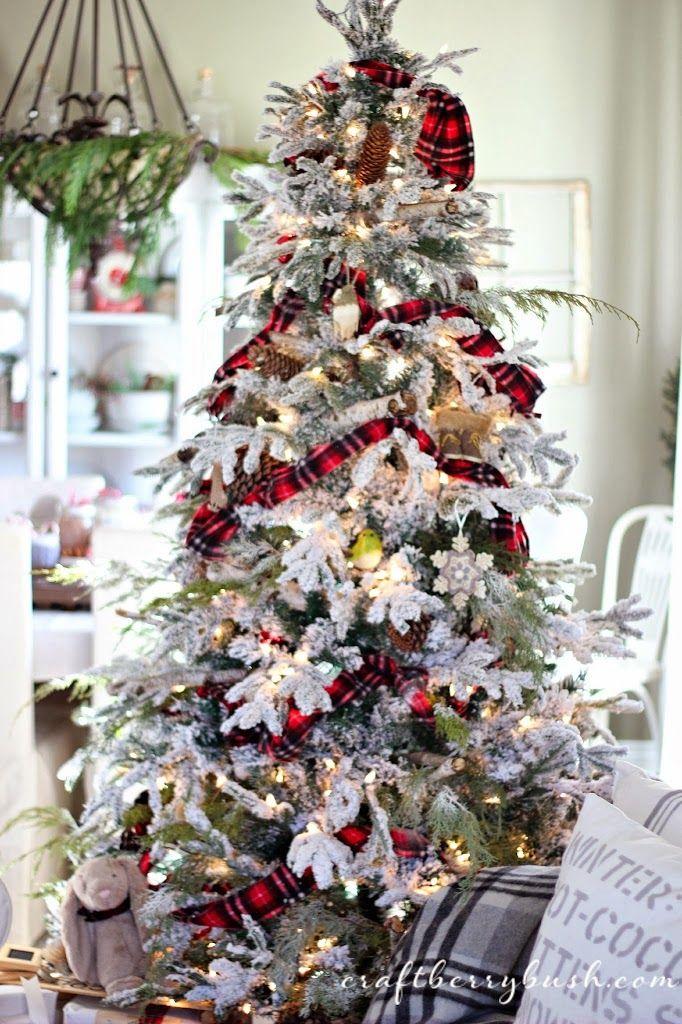 Snow White Winter Themed Christmas Tree A Farmhouse