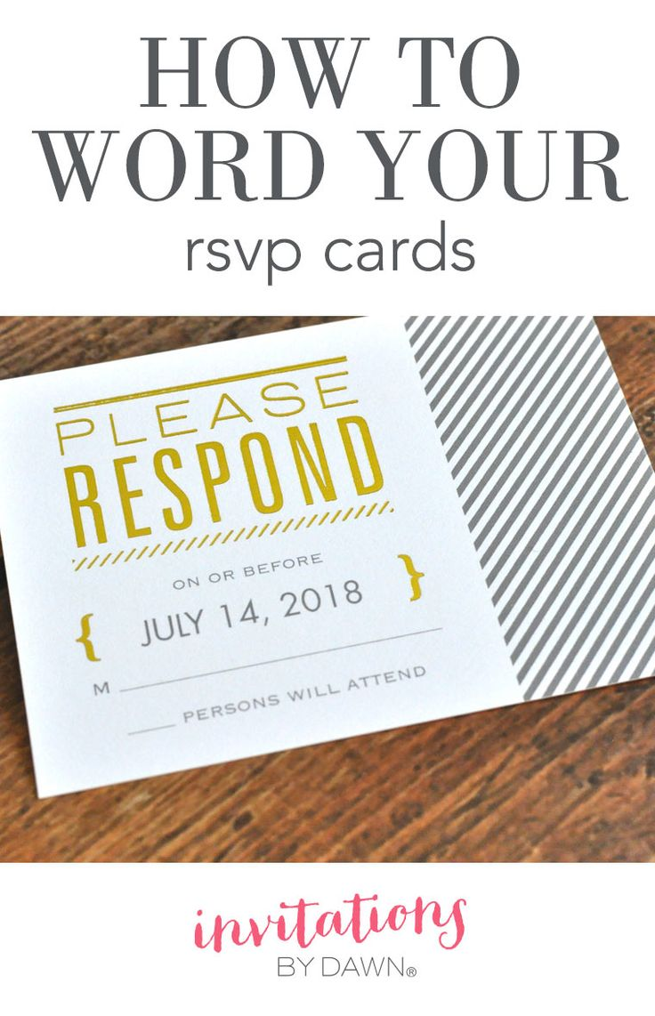 How to Word Your RSVP Cards Wedding Help & Tips Pinterest